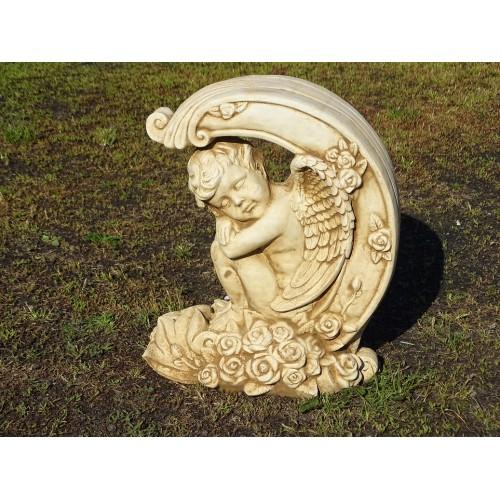 Anioł z harfą i różami Art.724