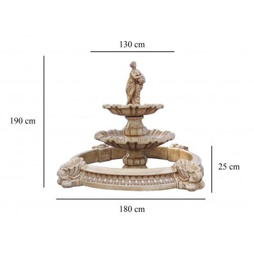 Fontanna z basenem i półnagą kobietą z dzbanem Art.1049
